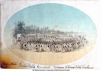 Walla Walla Council (1855) - The Walla Walla Council.