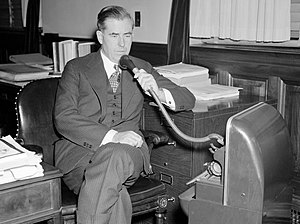 The Silent Speaker - Dictaphone machine being used by U.S. Secretary of Agriculture Henry A. Wallace