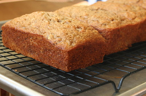 Walnut-Bourbon Banana Bread loaves.