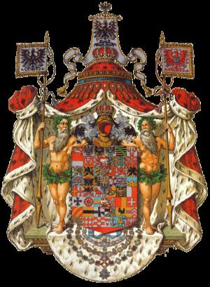 Hugo Gerard Ströhl - An example of Ströhl's work, the coat of arms of the Kings of Prussia, from the Deutsche Wappenrolle, Wappen von Deutschen Reiches und seiner Bundesstaaten published in 1897.