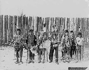 War dance - group of Dakota Truman W. Ingersoll 1896.jpg