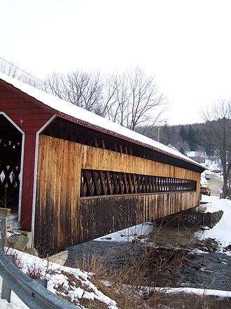Ware River - The Ware-Gilbertville Covered Bridge spans two towns, Ware and Gilbertville, and two counties in MA.