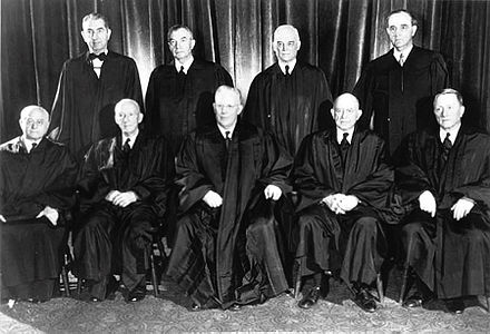 In 1954, the U.S. Supreme Court under Chief Justice Earl Warren ruled unanimously that racial segregation in public schools was unconstitutional. Warren Supreme Court.jpg