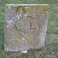 Weathered gravestone, St John the Baptist, Stiffkey - geograph.org.uk - 437103.jpg