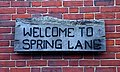 Welcome to Spring Lane - geograph.org.uk - 1346241.jpg