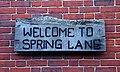 Welcome to Spring Lane - geograph.org.uk - 1346241.jpg