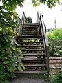 Well Worn Steps on Woolley Wood Footbridge - geograph.org.uk - 958977.jpg