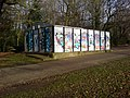 Well graffitied shed, War Memorial Park - geograph.org.uk - 1205145.jpg