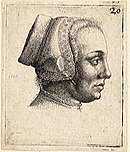 Wenceslas Hollar - Profile of a woman's head (State 2).jpg