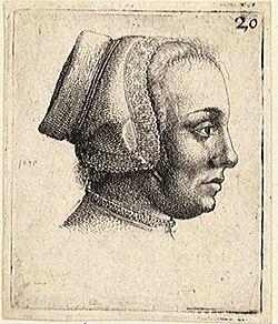 Wenceslas Hollar - Profile of a woman's head (State 2).jpg