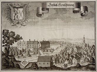 Arnschwang - Moated Castle Arnschwang around 1700 by Michael Wening