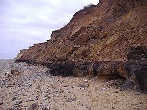 West Runton Mammoth - The cliffs at West Runton