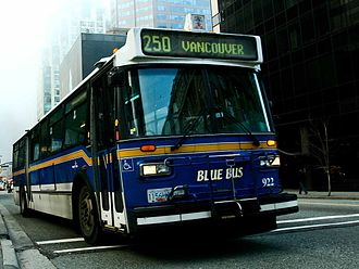 Orion Bus Industries - Image: West Vancouver Blue Bus 922 clip