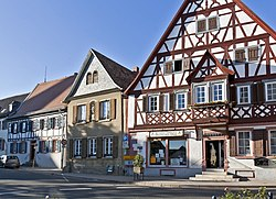 Old houses on the town square
