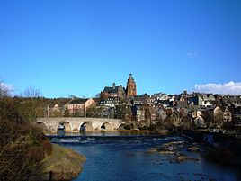 The oldtown and the old Lahnbridge