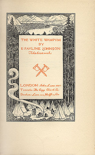 E. Pauline Johnson - Title page of The White Wampum, 1895