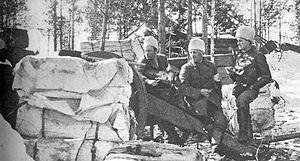 Battle of Antrea - White artillery in Hannila
