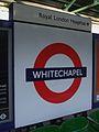 Whitechapel station roundel.JPG