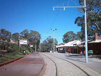 Whiteman, Western Australia - Whiteman Park Village, with tramway through centre