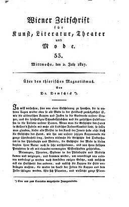 Wiener Zeitschrift 1817 07 02 - Titel