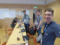 Wikimedia Hackathon Vienna 2017 attendees 05.jpg