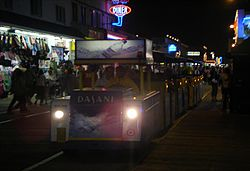 Wildwood tramcar night at Adventure Pier.JPG