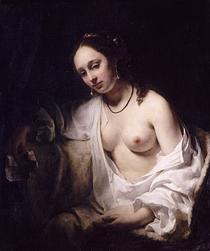 Willem Drost - Bathsheba, 1654, oil on canvas, Louvre.