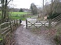 Worth Way crossing a private road to Rowfant Business Centre about 1 mile from Crawley Down, West Sussex - geograph.org.uk - 1617660.jpg