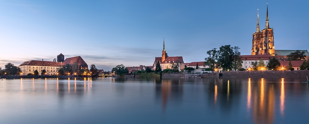 Panorama sur les îles de la cathédrale à Wroclaw - Photo de Jar.ciurus.