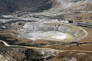 Nisyros - Stefanos, the largest crater of the volcano.