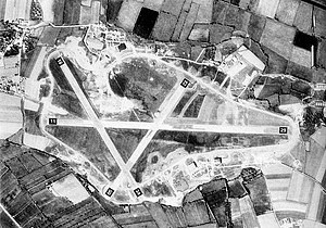 Westonzoyland - Weston Zoyland airfield, 22 April 1944. Devoid of aircraft prior to the 442d Troop Carrier Group moving in during June.