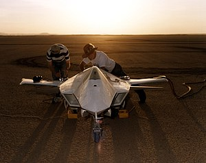 X-36 Being Prepared on Lakebed for First Flight.jpg