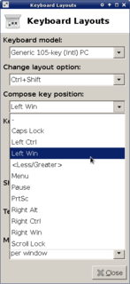 computer key changing the behaviour of the next key stroke
