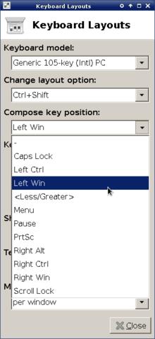 Linux Compose Key Greek Letters