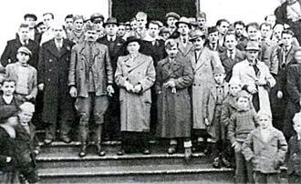 Balli Kombëtar - Convention of Ballists in Tetovo 1944 (centre left Xhem Hasa)