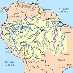 Xingu River - Image: Xingurivermap