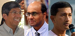 Group Representation Constituency - Yaacob Ibrahim, Tharman Shanmugaratnam and Vivian Balakrishnan, three Cabinet ministers in the 11th Parliament from minority communities who were elected through GRCs