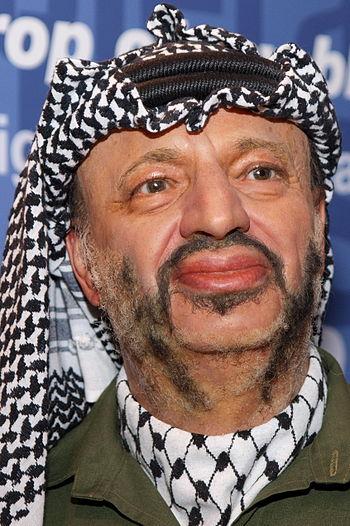English: Yasser Arafat.
