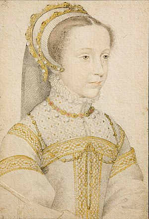 Portrait Mary Stuart at the age of 13.