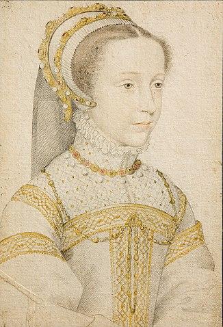 Мария Стюарт в юности. Художник Франсуа Клуэ, ок. 1555—1559гг.