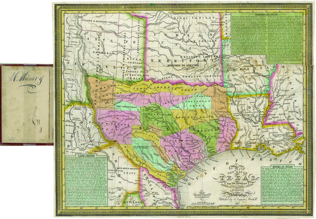 Map Of Texas In 1836.File Young Mitchell A New Map Of Texas 1836 Uta Jpg Wikimedia