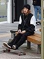 Young Man with Skateboard - Heiwa Street - Asahikawa - Hokkaido - Japan (48018079791).jpg