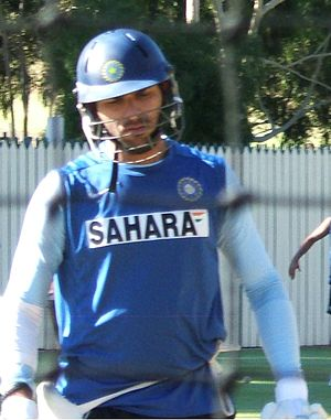 Yuvraj Singh - Yuvraj during batting practice in February 2008.