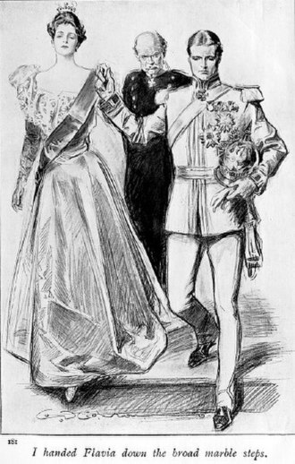 The Prisoner of Zenda - Frontispiece to the 1898 Macmillan Publishers edition, illustrated by Charles Dana Gibson