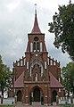 Zespół kościoła (1912-1913) kościół p.w. Przemienienia Pańskiego (front) - Malowa Góra gmina Zalesie powiat bialski woj. lubelskie ArPiCh A-194.JPG