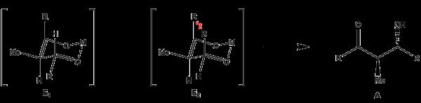 Anordnung des E-Enolats