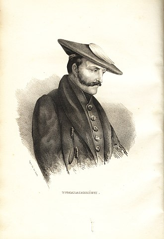 Tomás de Zumalacárregui - Lithography of Zumalacárregui, 1837