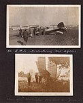 """84 C.T.S smashing 'em again"" Photograph of several men standing around a crashed aircraft. (3599112714).jpg"