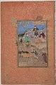 """Shaikh Mahneh and the Villager"", Folio 49r from a Mantiq al-tair (Language of the Birds) MET sf63-210-49r.jpg"