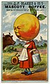 """""""Try C.F. Blanke and CO.'s Peaches and Cream Mascott Coffee"""" advertising card.jpg"""